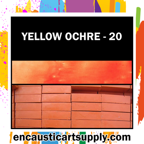 Encaustic Art Wax Blocks 16 pcs - Yellow ochre