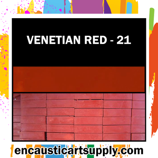 Encaustic Art Wax Blocks 16 pcs - Venetian red