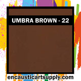 Encaustic Art Wax Blocks 16 pcs - Umber