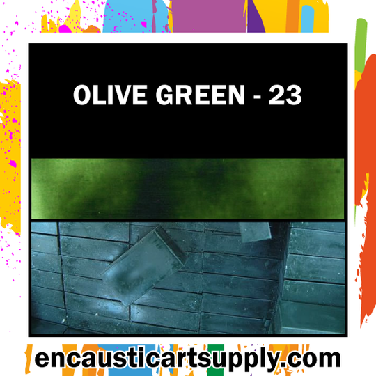 Encaustic Art Wax Blocks 16 pcs - Olivegreen