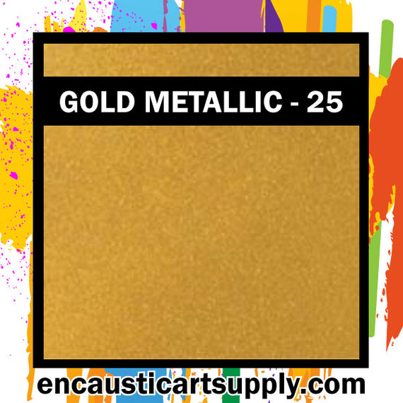 Encaustic Art Wax Blocks 16 pcs - Gold