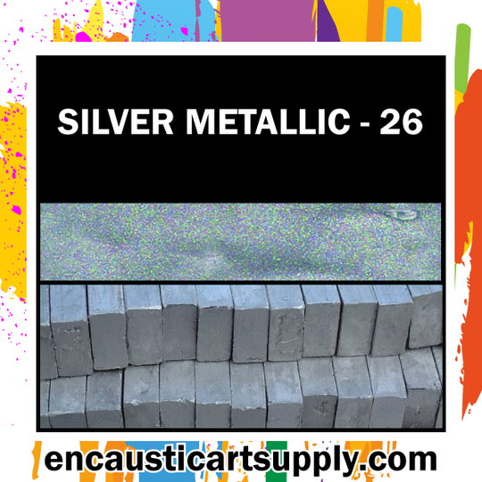 Encaustic Art Wax Blocks 16 pcs - Silver