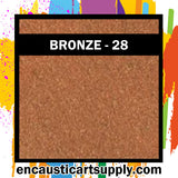 Encaustic Art Wax Blocks 16 pcs - Bronze