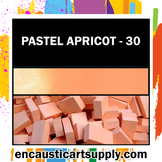 Encaustic Art Wax Blocks 16 pcs - Pastel apricot
