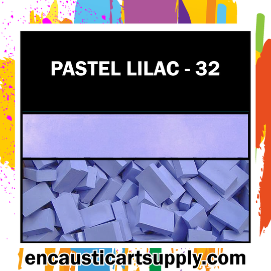 Encaustic Art Wax Blocks 16 pcs - Pastel lilac