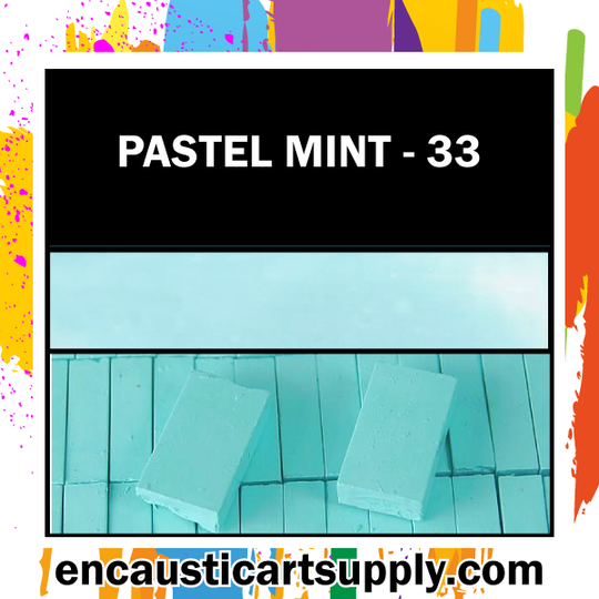 Encaustic Art Wax Blocks 16 pcs - Pastel mint