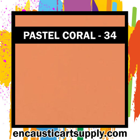 Encaustic Art Wax Blocks 16 pcs - Pastel coral