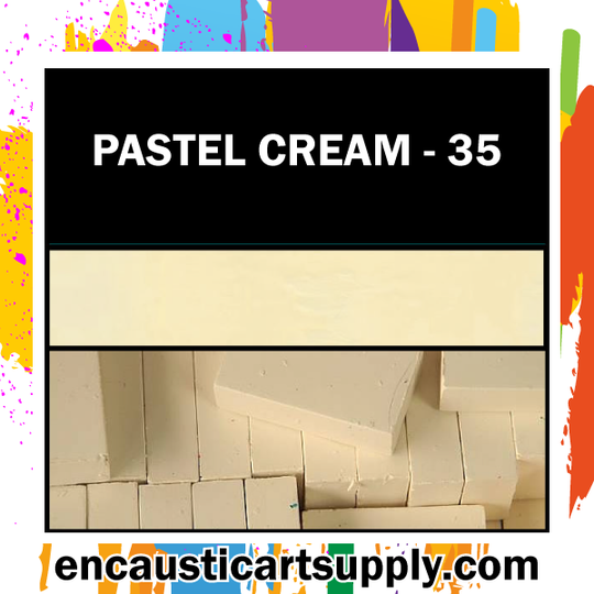 Encaustic Art Wax Blocks 16 pcs - Pastel cream