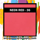 Encaustic Art Wax Blocks 16 pcs - Neon red