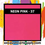 Encaustic Art Wax Blocks 16 pcs - Neon pink