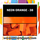 Encaustic Art Wax Blocks 16 pcs - Neon orange