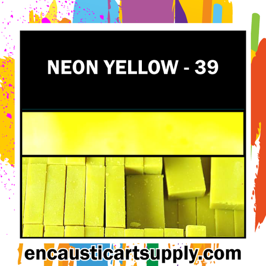 Encaustic Art Wax Blocks 16 pcs - Neon yellow