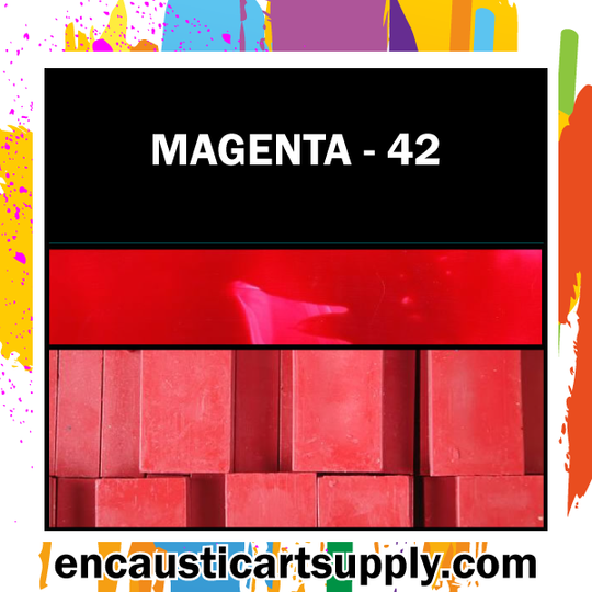 Encaustic Art Wax Blocks 16 pcs - Magenta