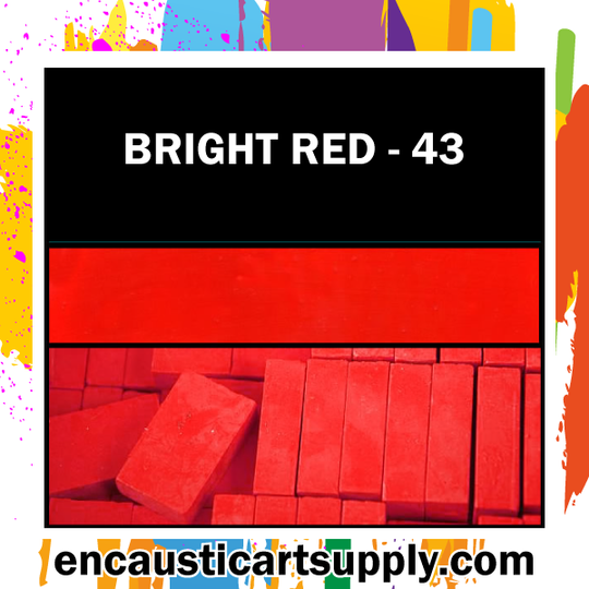 Encaustic Art Wax Blocks 16 pcs - Bright red
