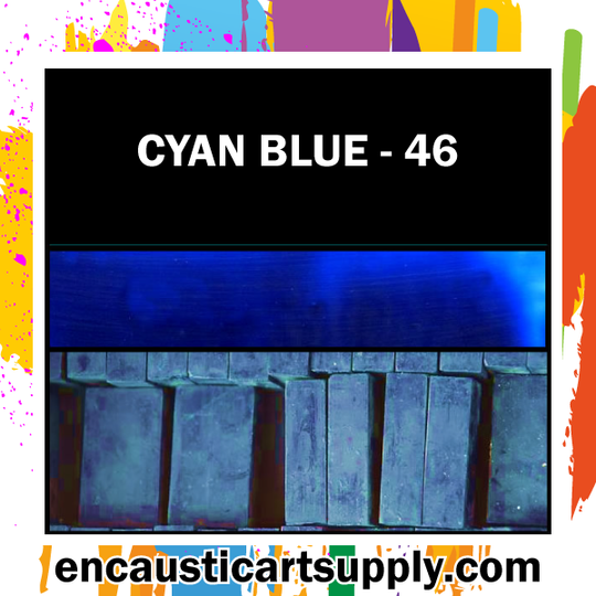Encaustic Art Wax Blocks 16 pcs - Cyan blue