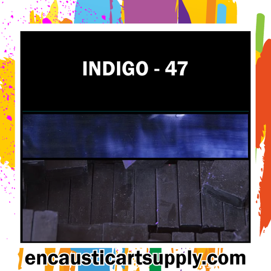 Encaustic Art Wax Blocks 16 pcs - Indigo
