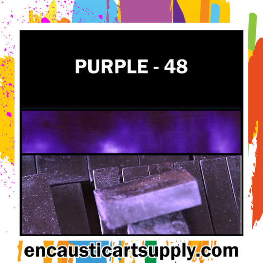 Encaustic Art Wax Blocks 16 pcs - Purple