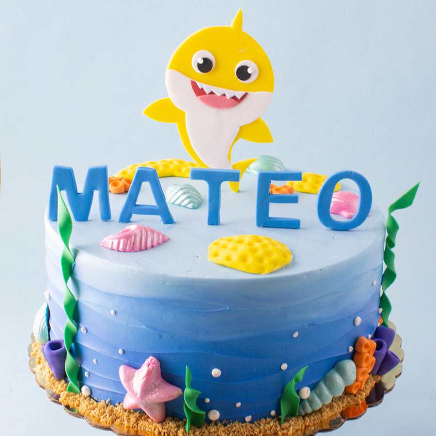 Yellow Baby Shark Cake