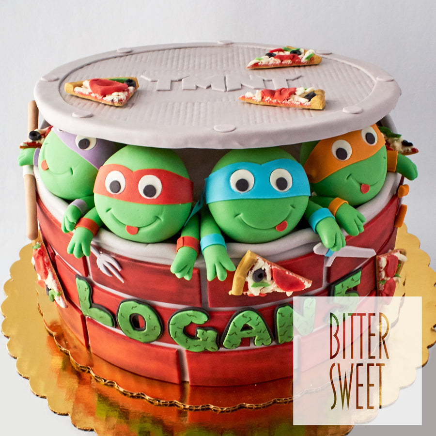3D Teenage Mutant Ninja Turtle Cake