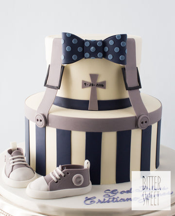 Little Man Tiered Baby Cake