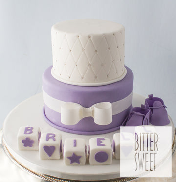 Lavender Tiered Baby Cake
