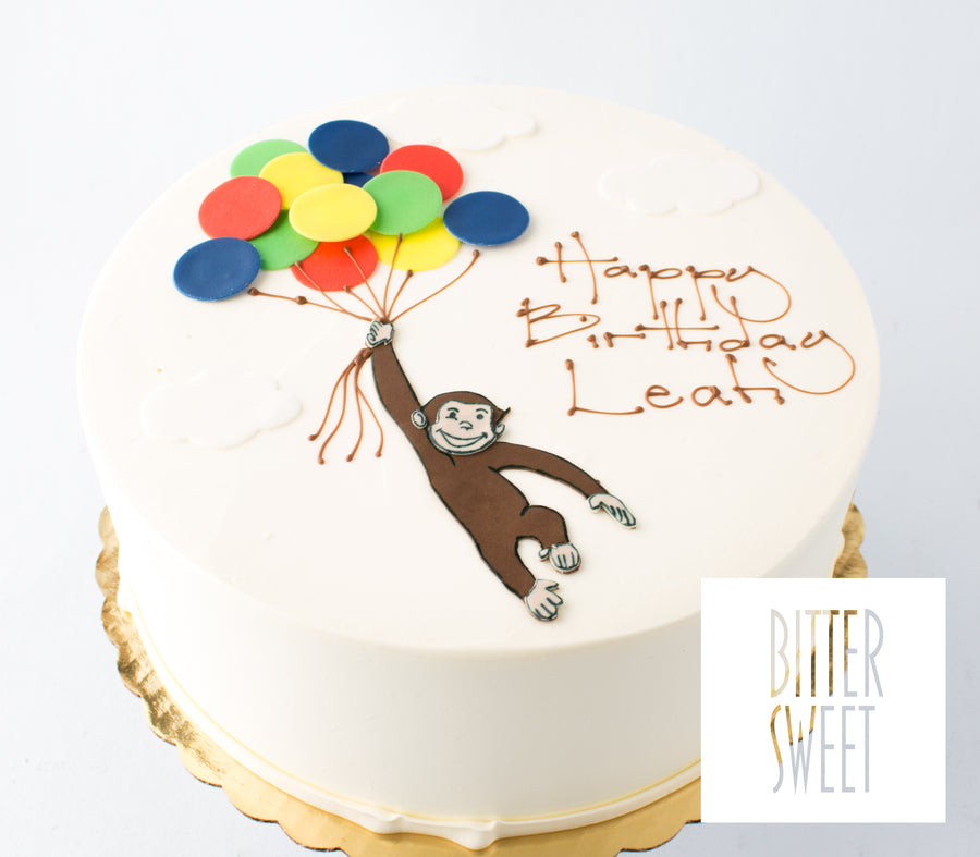 Magnificent Curious George Cake Bittersweet Pastry Shop Personalised Birthday Cards Beptaeletsinfo