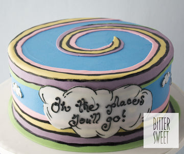 Oh The Places You'll Go! Cake
