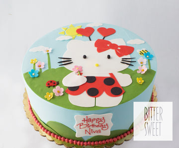 Hello Kitty Love Bug Cake