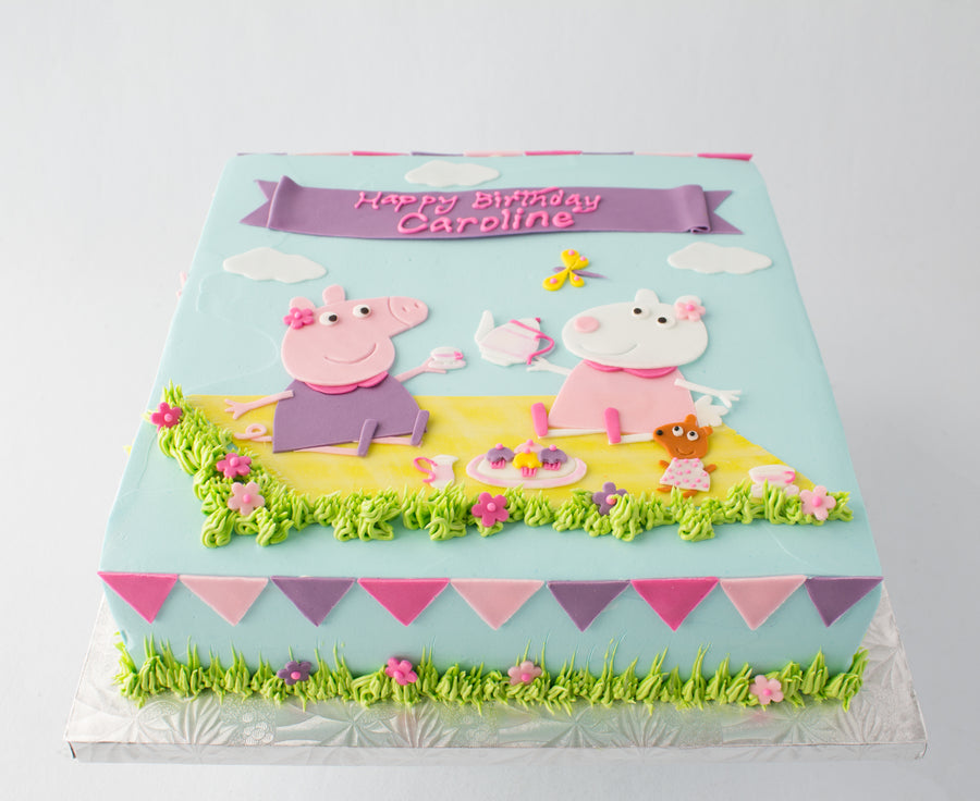 Peppa the Pig Picnic Cake