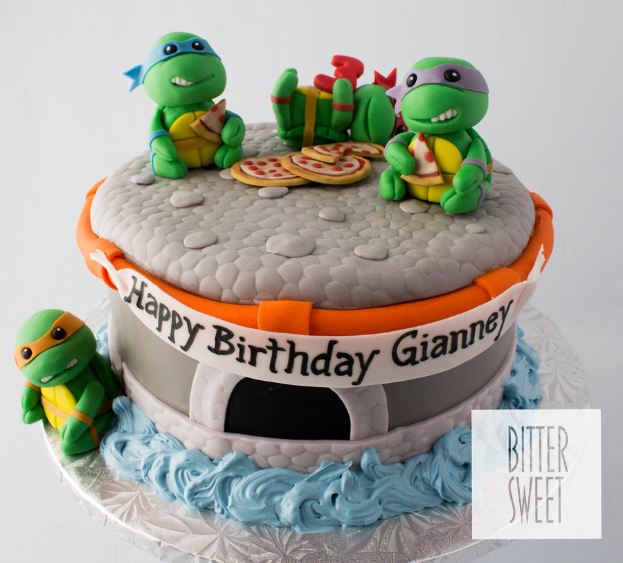 Teenage Mutant Ninja Turtle Babies Cake