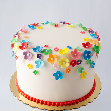 Bright Sugar Blossom Cake