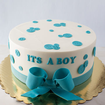 Button Baby Boy Cake