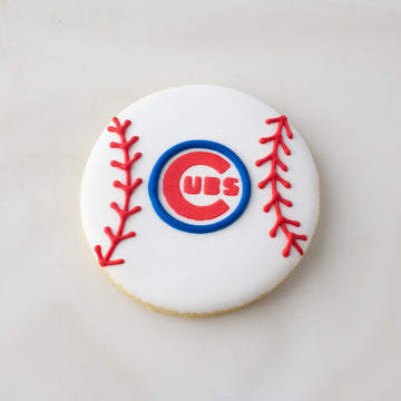 Cubs Baseball Cookie