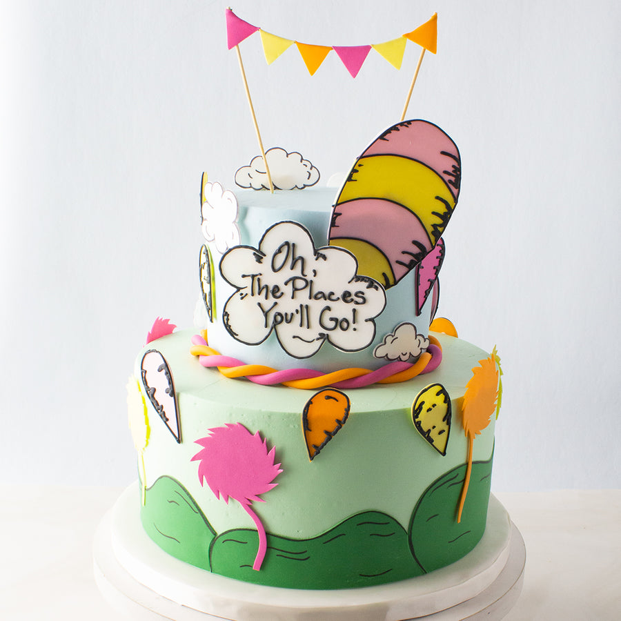 Tiered Oh, The Places You'll Go Cake