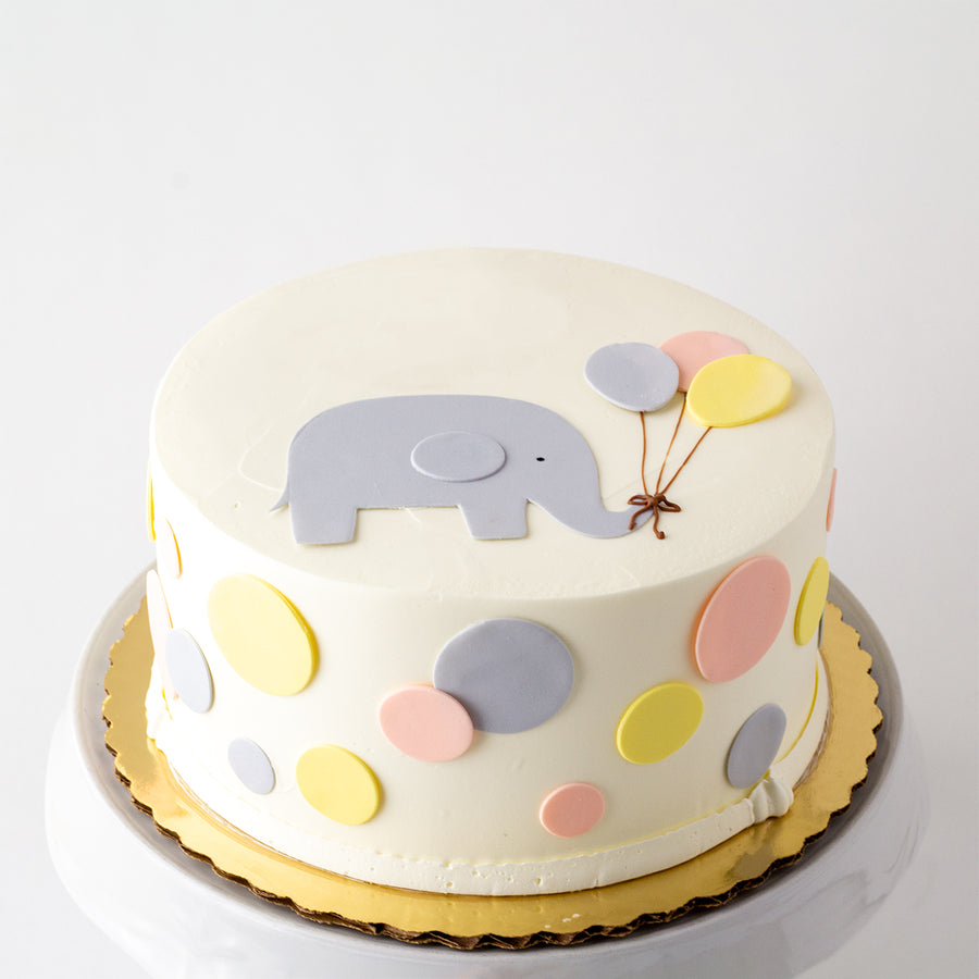 Elephant with Balloons Cake