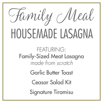 Bittersweet Family Meal: Housemade Lasagna