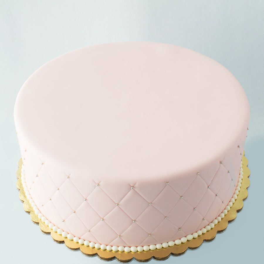 Quilted Fondant Cake