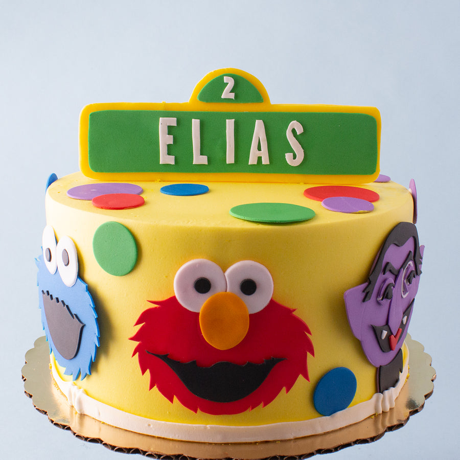 Brilliant Sesame Street Cake Bittersweet Pastry Shop Personalised Birthday Cards Paralily Jamesorg