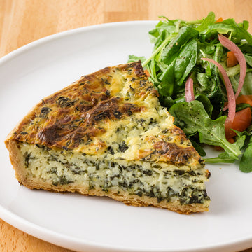 Whole Spinach Ricotta Quiche