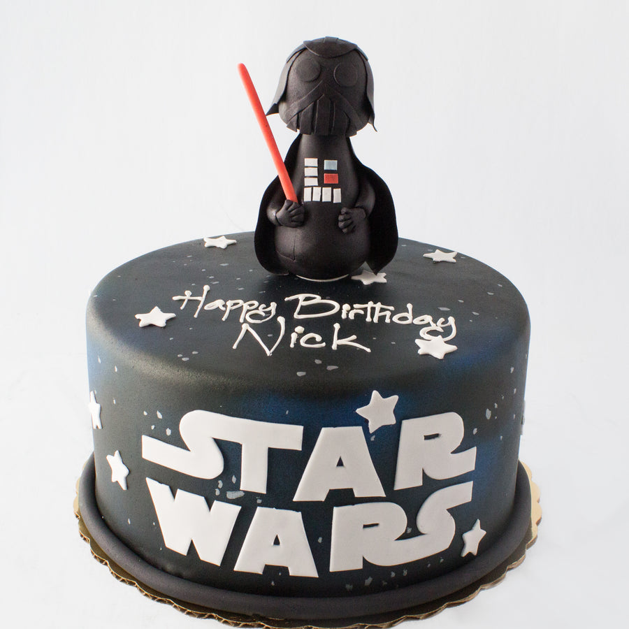 Stupendous Darth Vader Cake Bittersweet Pastry Shop Birthday Cards Printable Trancafe Filternl