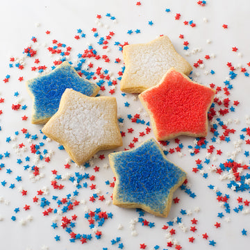 Fourth of July Star Sugar Cookies