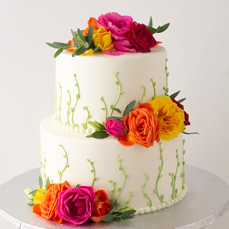 Piped Vines Cake
