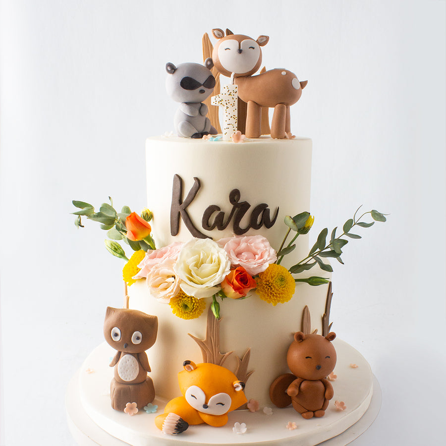 Tiered Woodland Creatures Cake