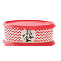 Cookie Canister White Zig Zag