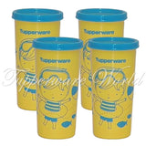 Kids Tumbler Set Yellow Blue