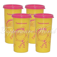Kids Tumbler Set Yellow Pink