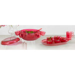 Punch Bowl Set in Red
