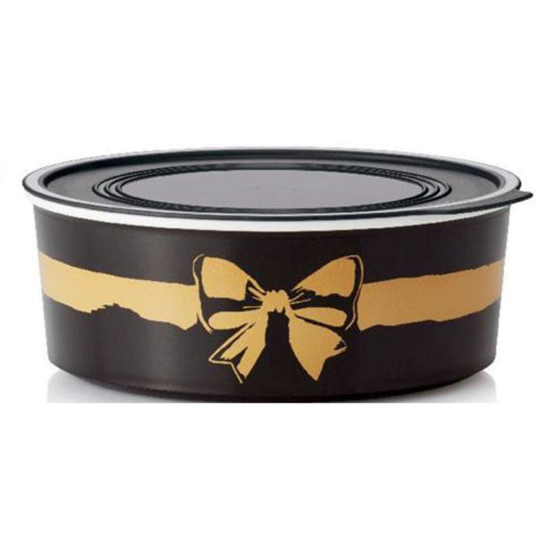 Round Baseline Canister 1.5L Golden Bow