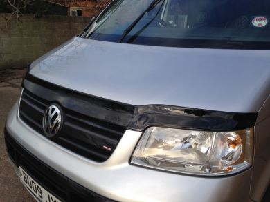 VW T5 Gloss Black GRP Bonnet Protector