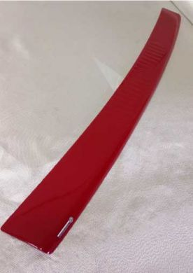 VW T5.1 Gloss Red GRP 3/4 Width Wraparound Rear Bumper Protector